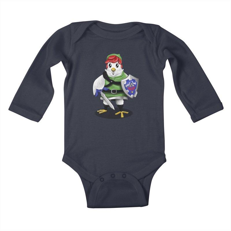 Hyrule Chicken Kids Baby Longsleeve Bodysuit by vincenttrinidad's Artist Shop