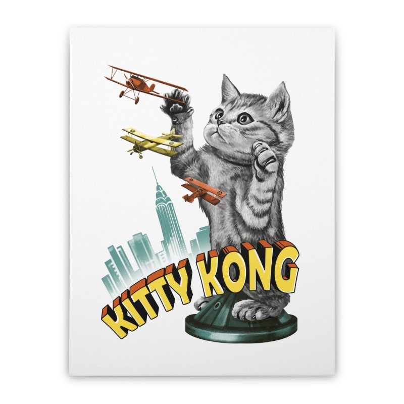 Kitty Kong Home Stretched Canvas by vincenttrinidad's Artist Shop