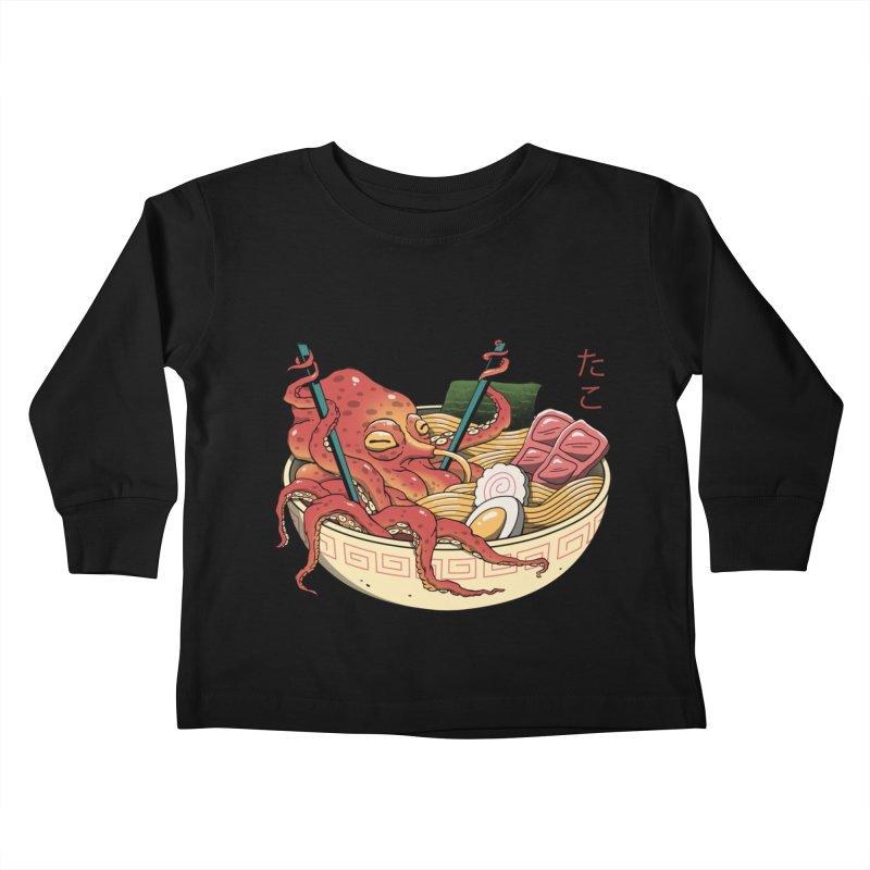 Tako Ramen Kids Toddler Longsleeve T-Shirt by vincenttrinidad's Artist Shop