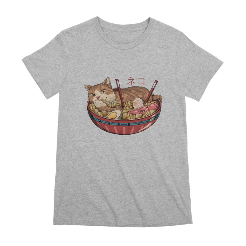 Neko Ramen v2 Women's Premium T-Shirt by vincenttrinidad's Artist Shop