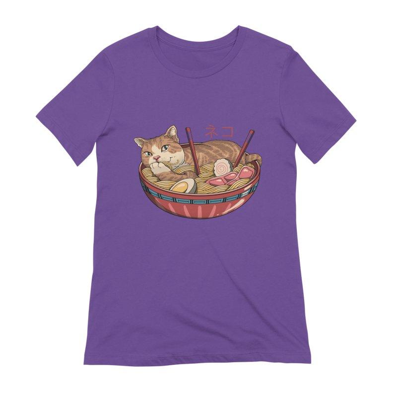 Neko Ramen v2 Women's Extra Soft T-Shirt by vincenttrinidad's Artist Shop