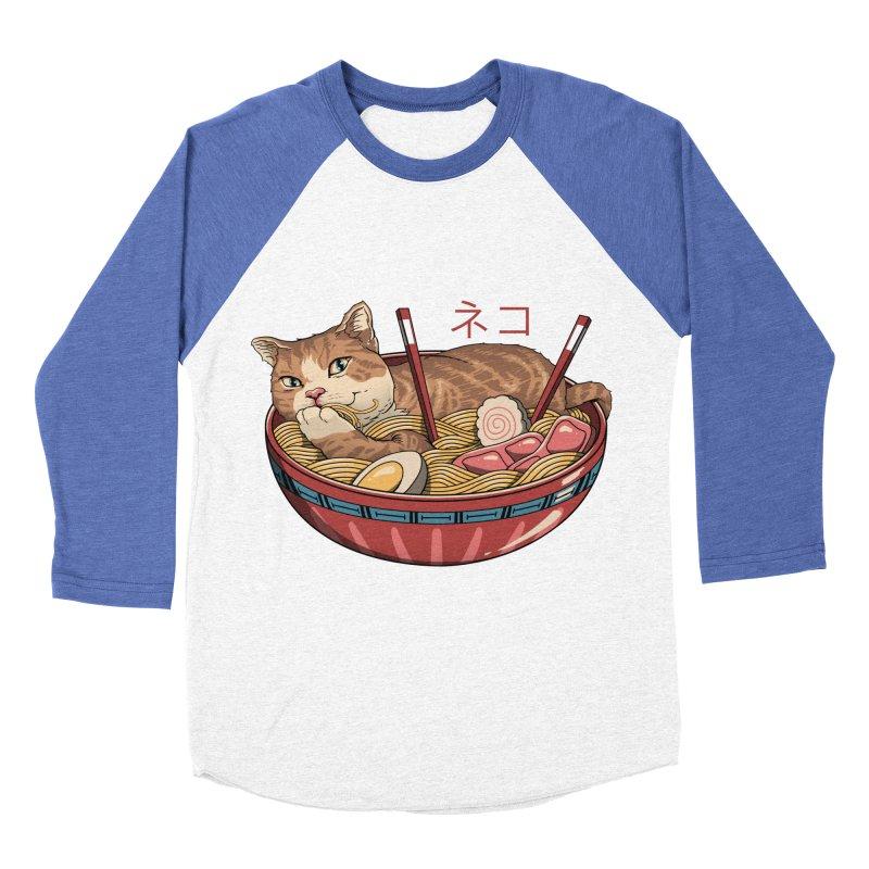 Neko Ramen v2 Men's Baseball Triblend Longsleeve T-Shirt by vincenttrinidad's Artist Shop