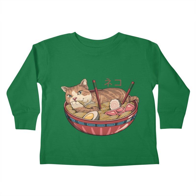 Neko Ramen v2 Kids Toddler Longsleeve T-Shirt by vincenttrinidad's Artist Shop