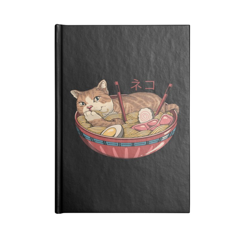 Neko Ramen v2 Accessories Notebook by vincenttrinidad's Artist Shop