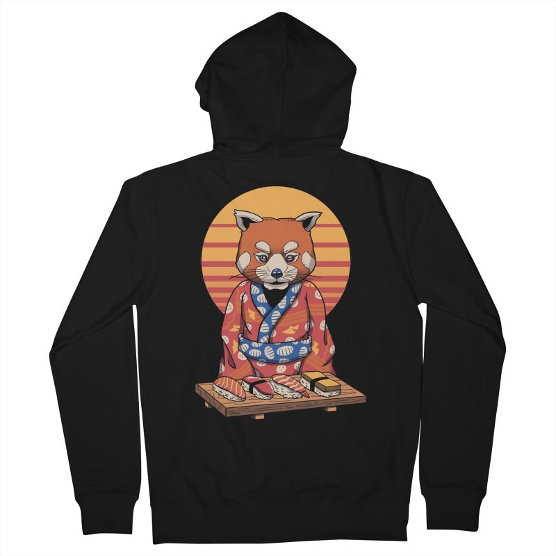 Rad Panda Men's French Terry Zip-Up Hoody by Vincent Trinidad