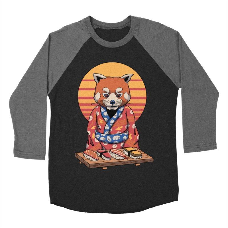 Rad Panda Men's Baseball Triblend Longsleeve T-Shirt by vincenttrinidad's Artist Shop