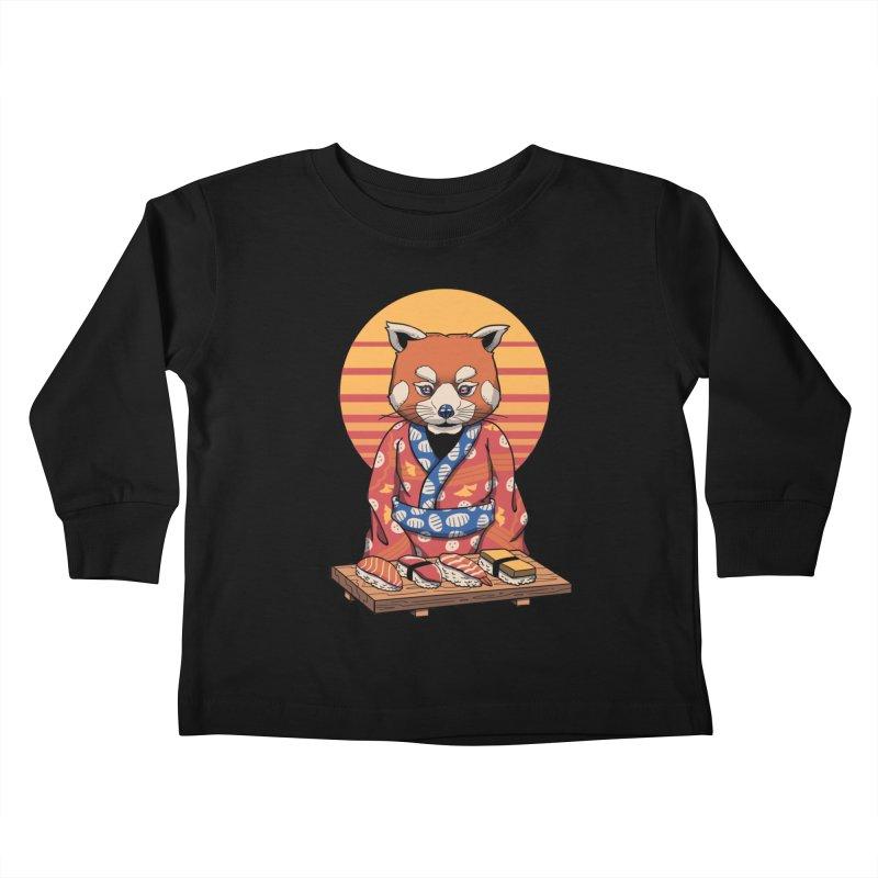 Rad Panda Kids Toddler Longsleeve T-Shirt by vincenttrinidad's Artist Shop