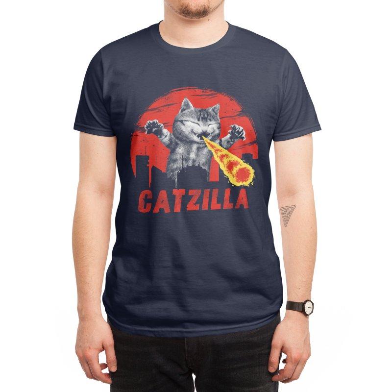 Catzilla Men's T-Shirt by Vincent Trinidad Art