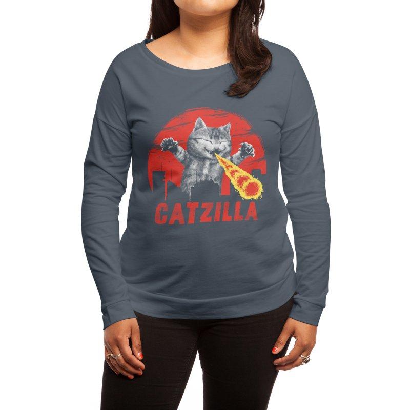 Catzilla Women's Longsleeve T-Shirt by Vincent Trinidad Art