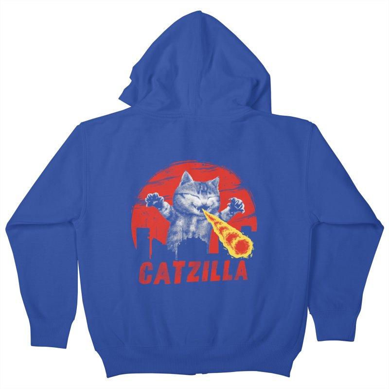 Catzilla Kids Zip-Up Hoody by vincenttrinidad's Artist Shop