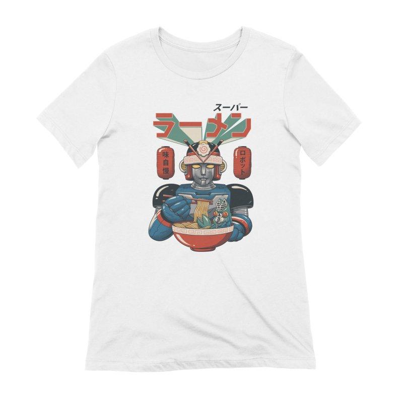 Super Ramen Bot Women's Extra Soft T-Shirt by vincenttrinidad's Artist Shop