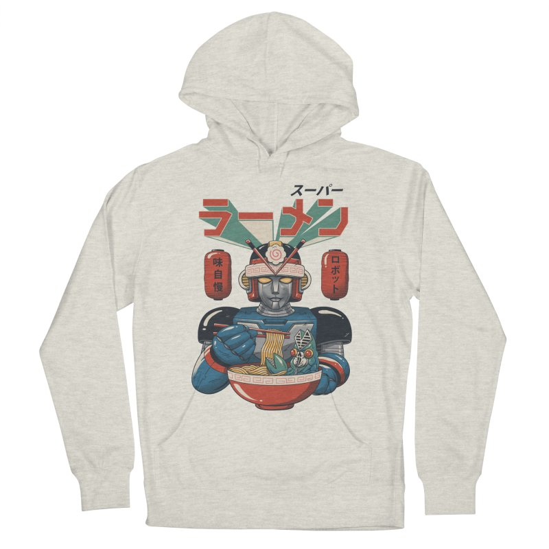 Super Ramen Bot Women's French Terry Pullover Hoody by Vincent Trinidad