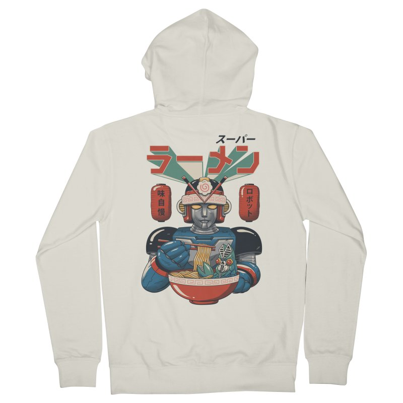 Super Ramen Bot Men's French Terry Zip-Up Hoody by Vincent Trinidad