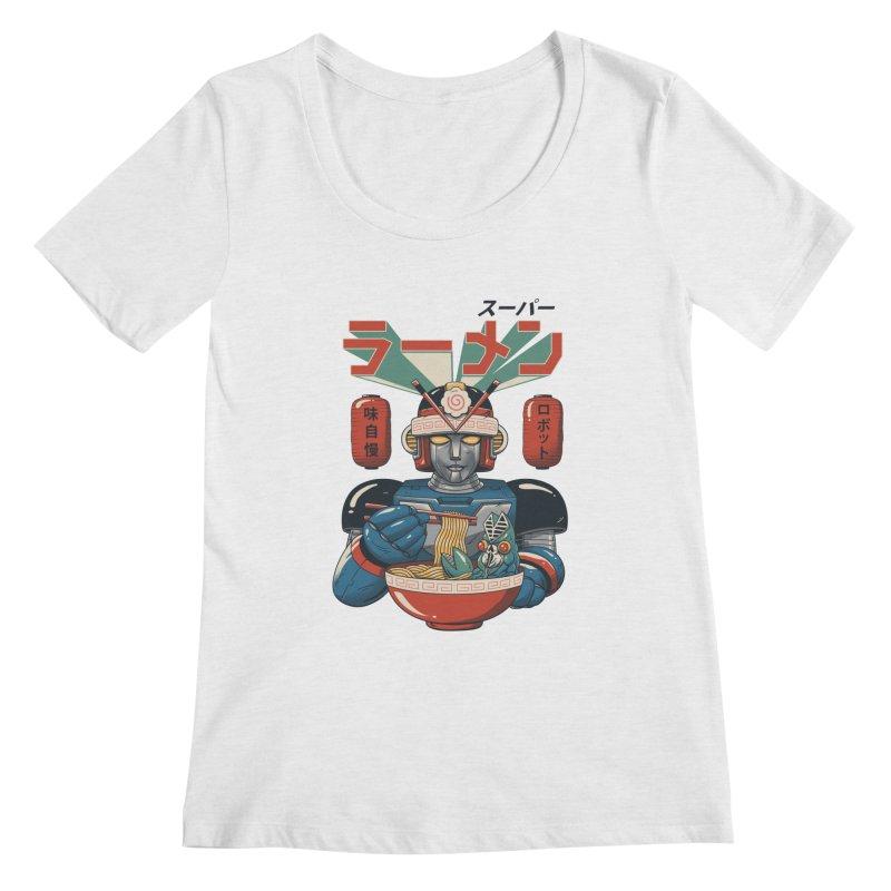 Super Ramen Bot Women's Regular Scoop Neck by vincenttrinidad's Artist Shop