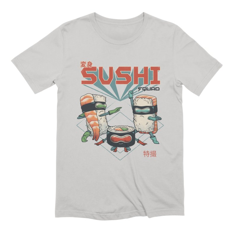 Sushi Squad in Men's Extra Soft T-Shirt Stone by Vincent Trinidad Art