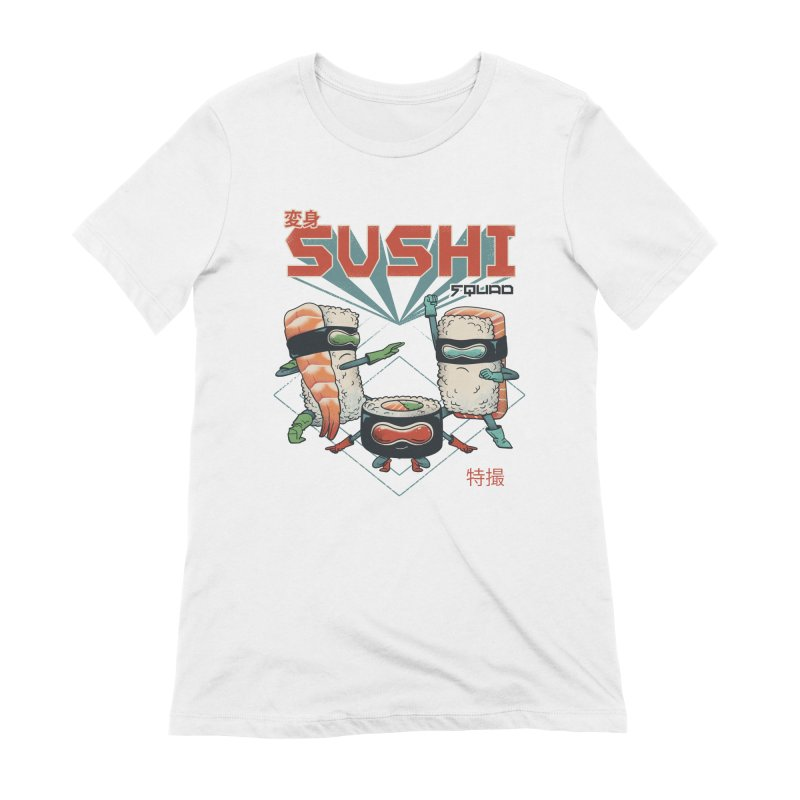 Sushi Squad Women's Extra Soft T-Shirt by Vincent Trinidad
