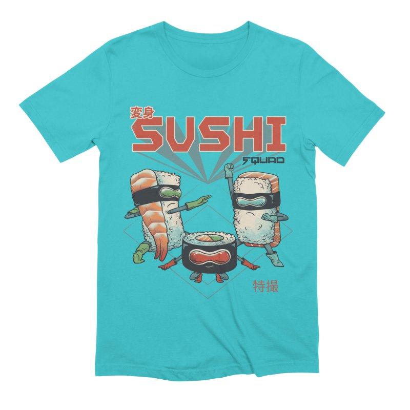 Sushi Squad Men's Extra Soft T-Shirt by Vincent Trinidad