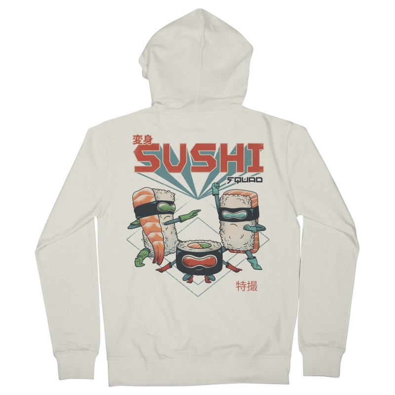 Sushi Squad Men's French Terry Zip-Up Hoody by Vincent Trinidad