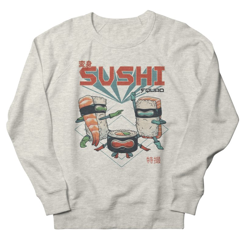 Sushi Squad Men's French Terry Sweatshirt by vincenttrinidad's Artist Shop