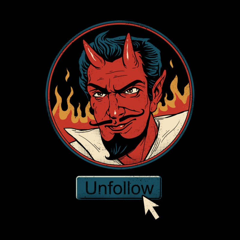 Unfollow the Devil Men's T-Shirt by vincenttrinidad's Artist Shop