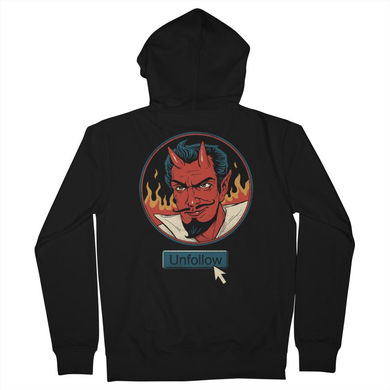 Unfollow the Devil Women's Zip-Up Hoody by Vincent Trinidad