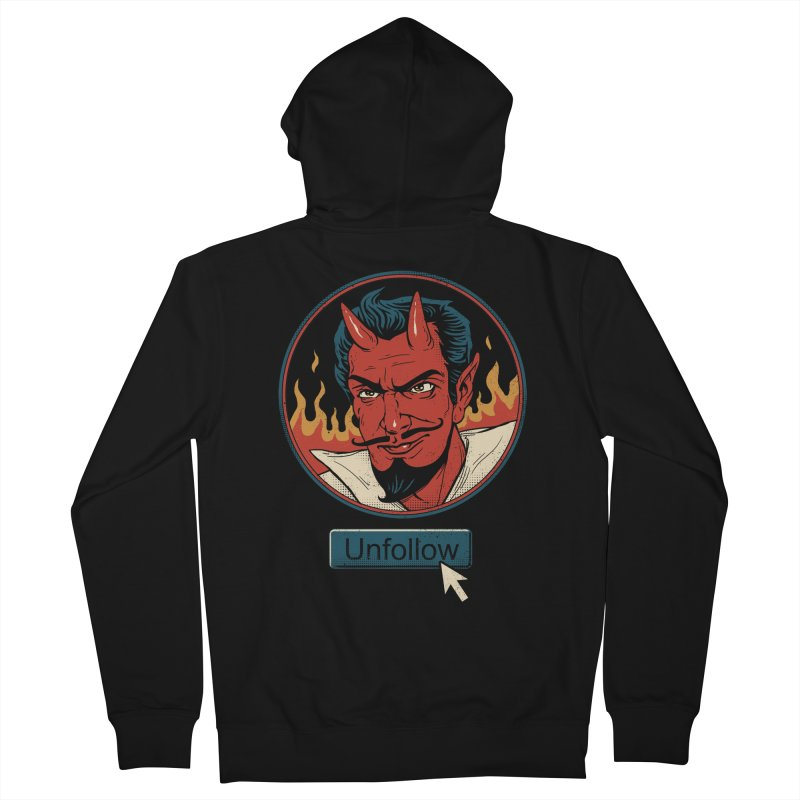 Unfollow the Devil Men's French Terry Zip-Up Hoody by Vincent Trinidad