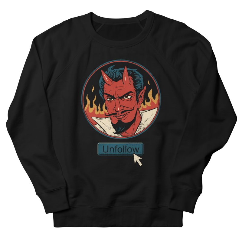 Unfollow the Devil Men's French Terry Sweatshirt by vincenttrinidad's Artist Shop