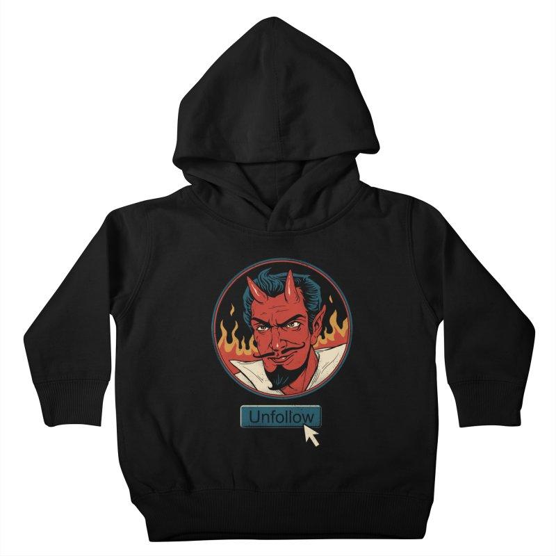 Unfollow the Devil Kids Toddler Pullover Hoody by vincenttrinidad's Artist Shop