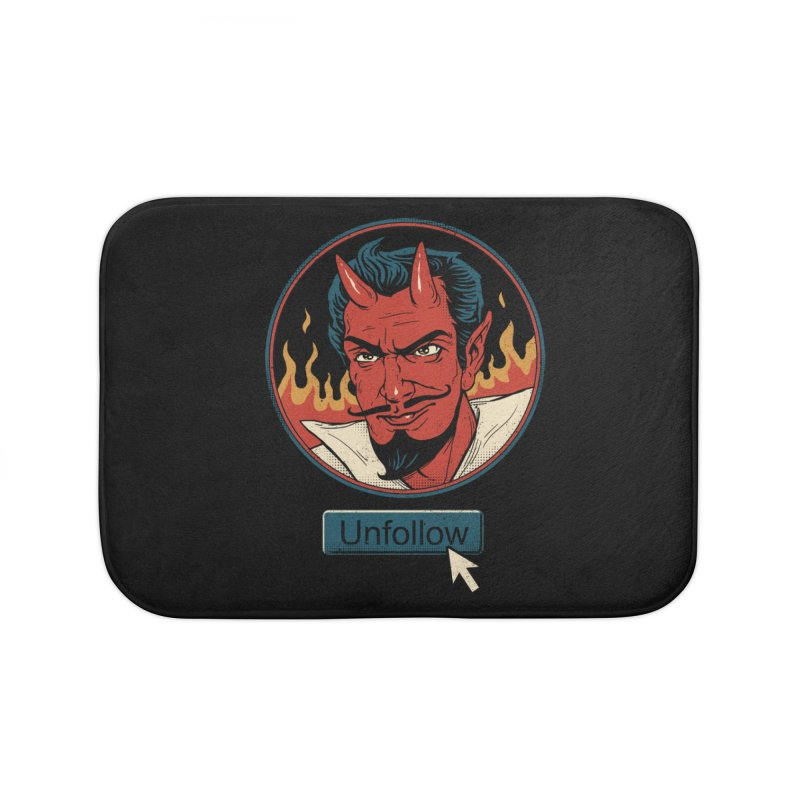 Unfollow the Devil Home Bath Mat by vincenttrinidad's Artist Shop