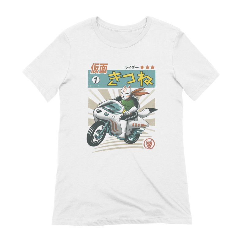 Kitsune Kamen Rider Women's Extra Soft T-Shirt by Vincent Trinidad