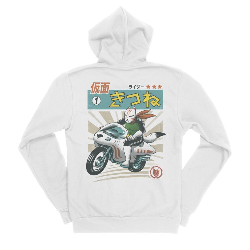 Kitsune Kamen Rider Women's Sponge Fleece Zip-Up Hoody by vincenttrinidad's Artist Shop