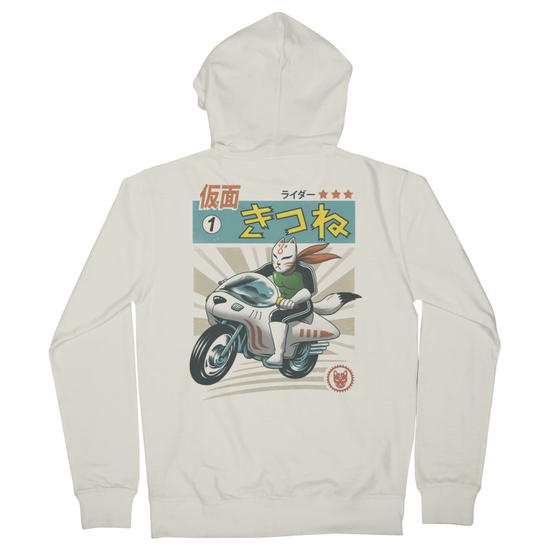 Kitsune Kamen Rider Women's Zip-Up Hoody by Vincent Trinidad
