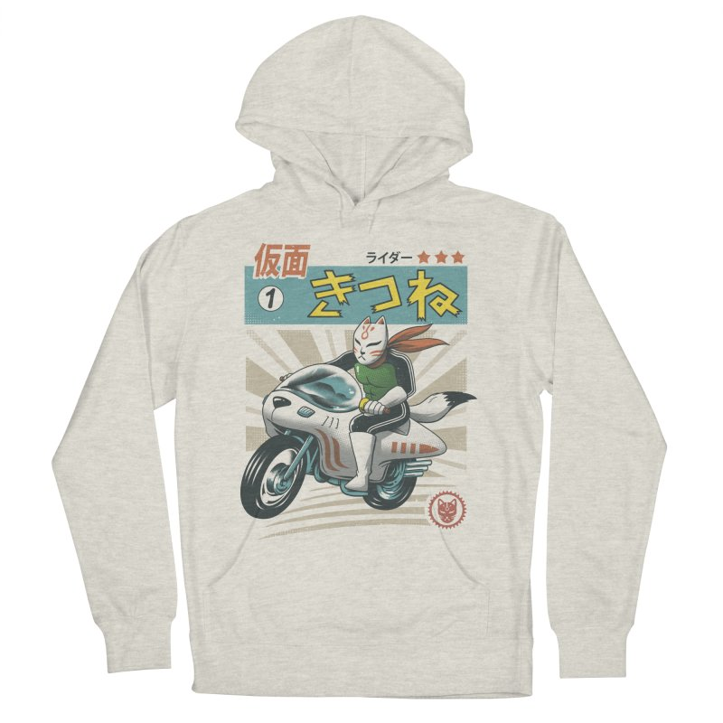 Kitsune Kamen Rider Women's French Terry Pullover Hoody by Vincent Trinidad