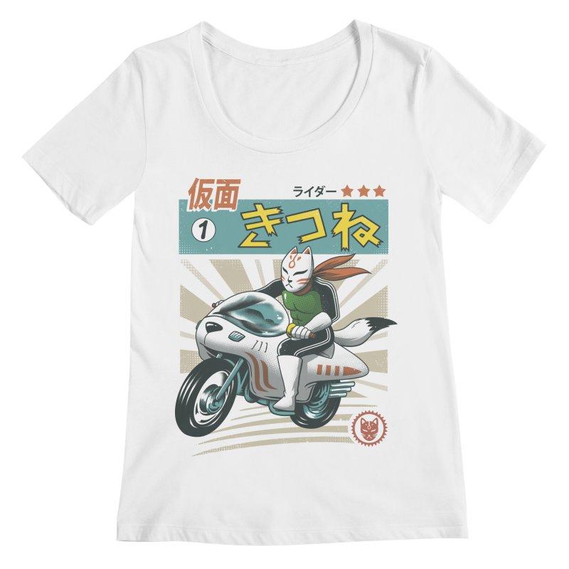 Kitsune Kamen Rider Women's Regular Scoop Neck by vincenttrinidad's Artist Shop