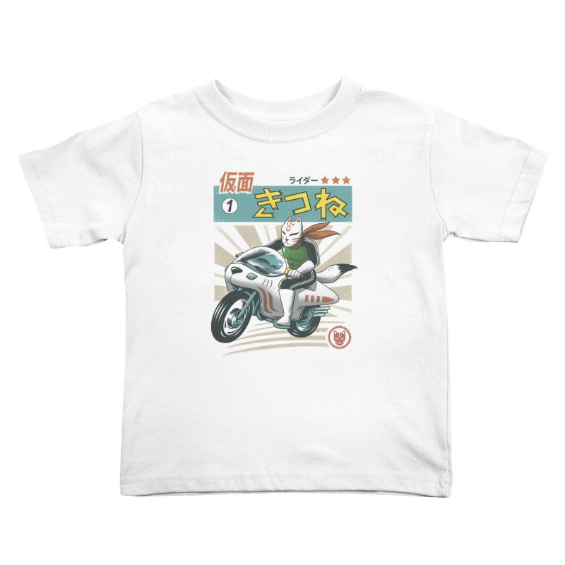 Kitsune Kamen Rider Kids Toddler T-Shirt by vincenttrinidad's Artist Shop