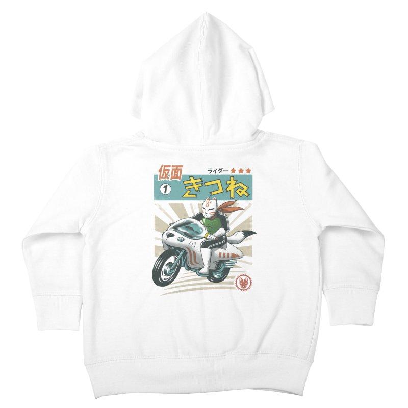 Kitsune Kamen Rider Kids Toddler Zip-Up Hoody by vincenttrinidad's Artist Shop