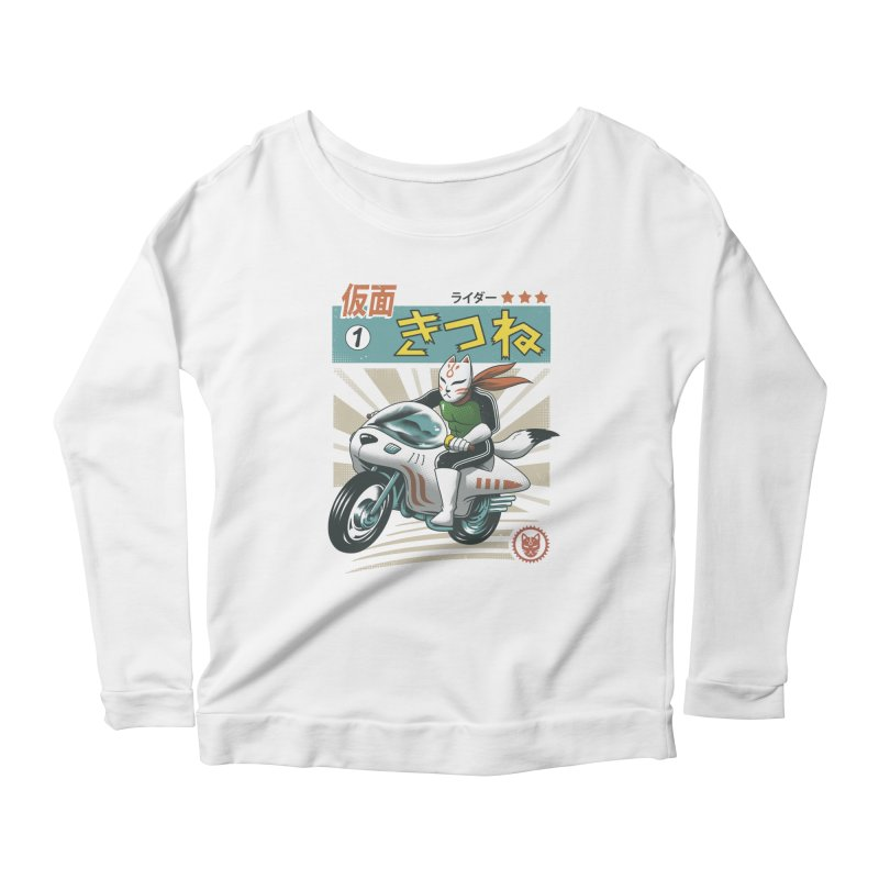 Kitsune Kamen Rider Women's Scoop Neck Longsleeve T-Shirt by vincenttrinidad's Artist Shop