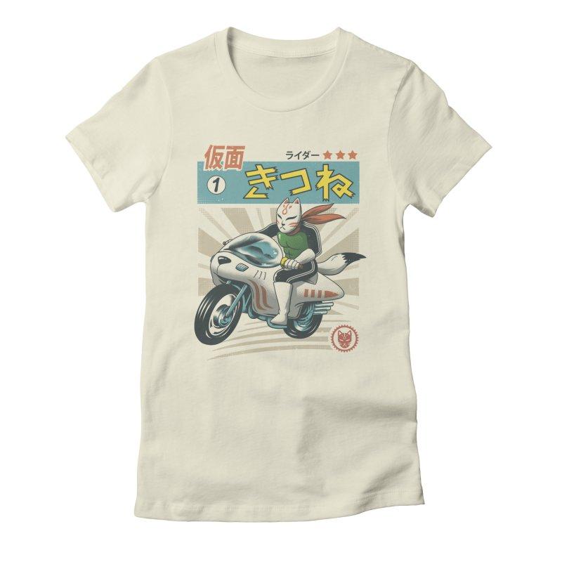 Kitsune Kamen Rider Women's Fitted T-Shirt by vincenttrinidad's Artist Shop