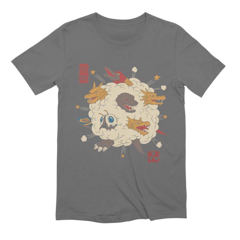 Kaiju Rumble Men's T-Shirt by Vincent Trinidad Art
