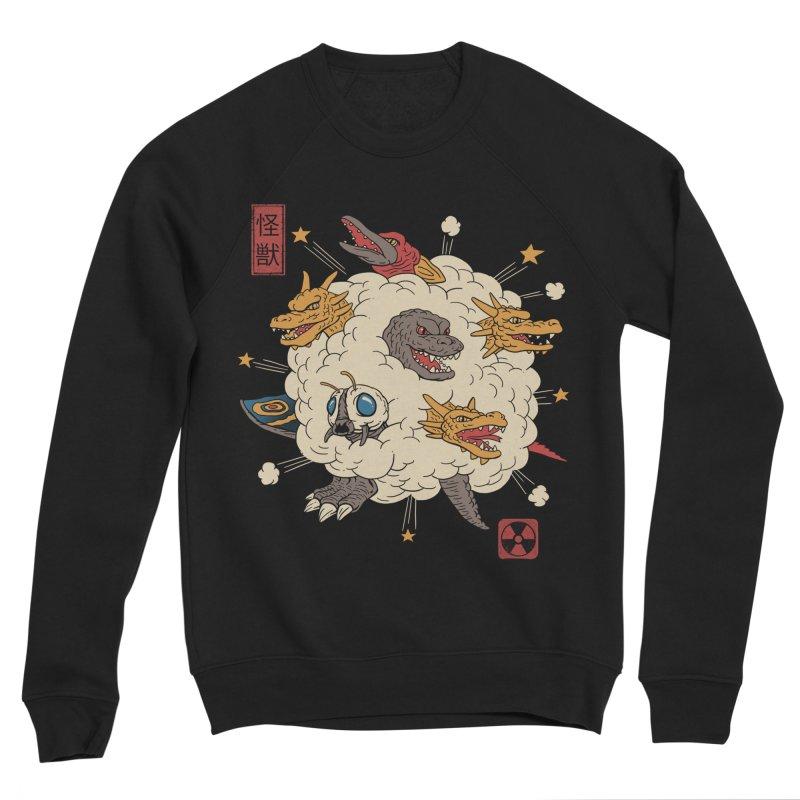 Kaiju Rumble Women's Sponge Fleece Sweatshirt by vincenttrinidad's Artist Shop