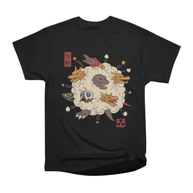 Kaiju Rumble Women's Heavyweight Unisex T-Shirt by vincenttrinidad's Artist Shop