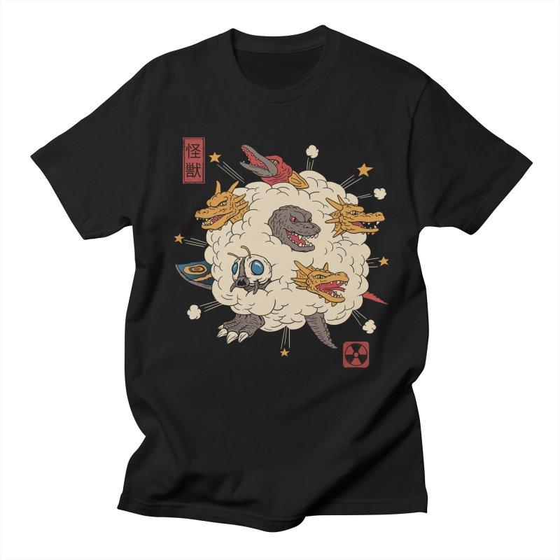 Kaiju Rumble Men's Regular T-Shirt by vincenttrinidad's Artist Shop