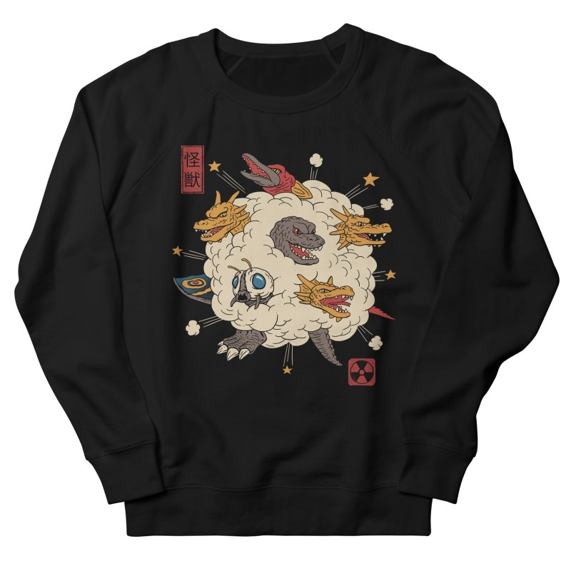 Kaiju Rumble Men's French Terry Sweatshirt by vincenttrinidad's Artist Shop