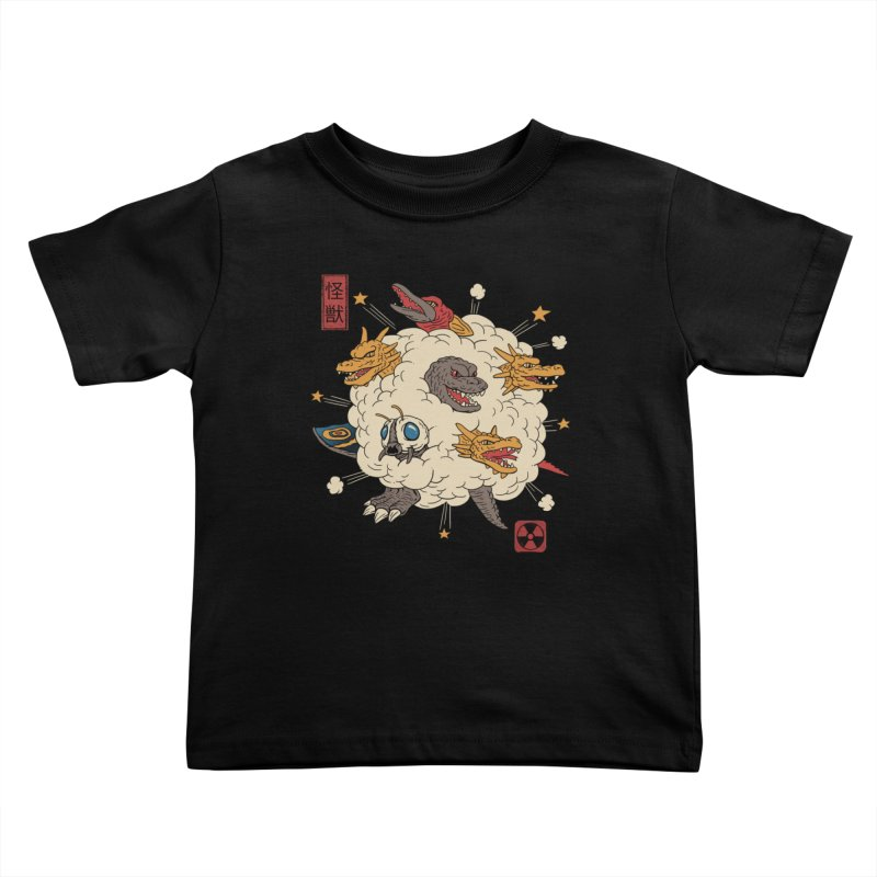 Kaiju Rumble Kids Toddler T-Shirt by vincenttrinidad's Artist Shop
