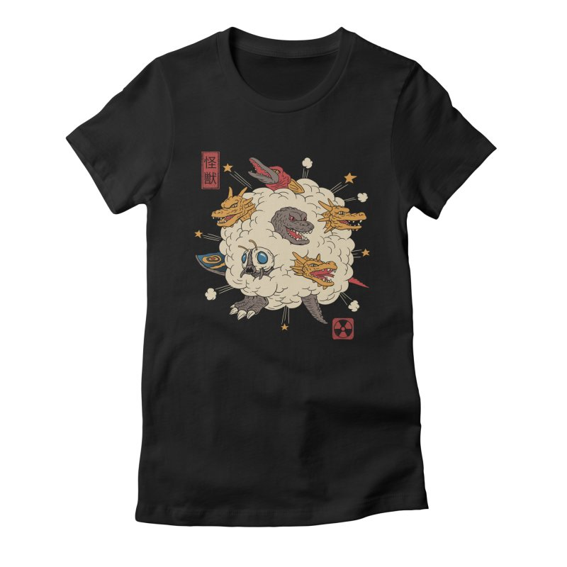 Kaiju Rumble Women's Fitted T-Shirt by vincenttrinidad's Artist Shop
