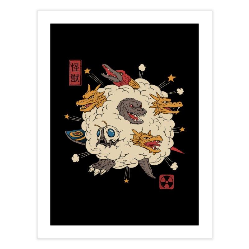 Kaiju Rumble Home Fine Art Print by Vincent Trinidad Art