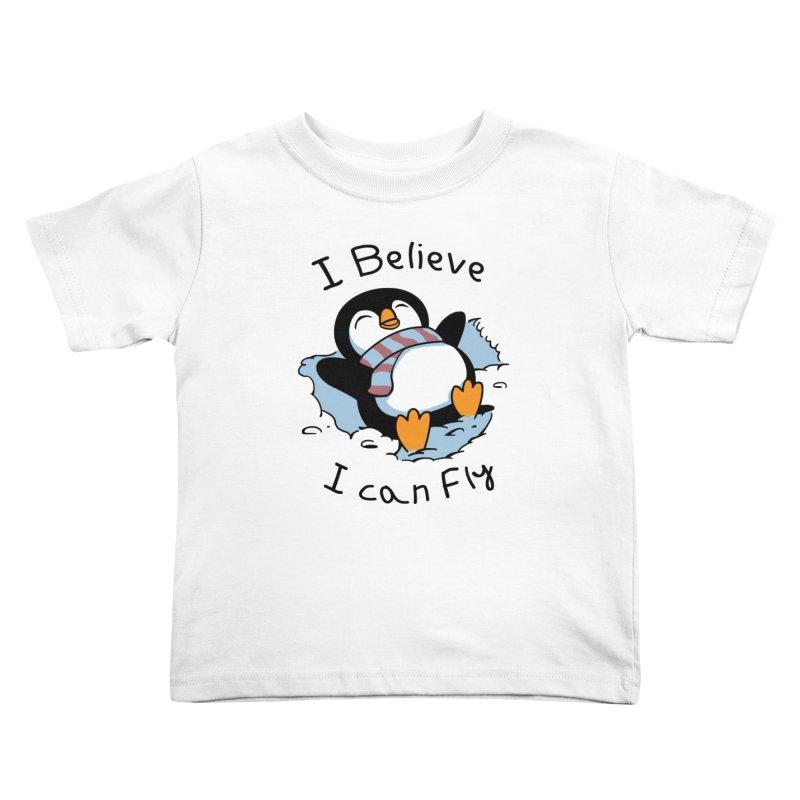 Snow Penguin Kids Toddler T-Shirt by vincenttrinidad's Artist Shop