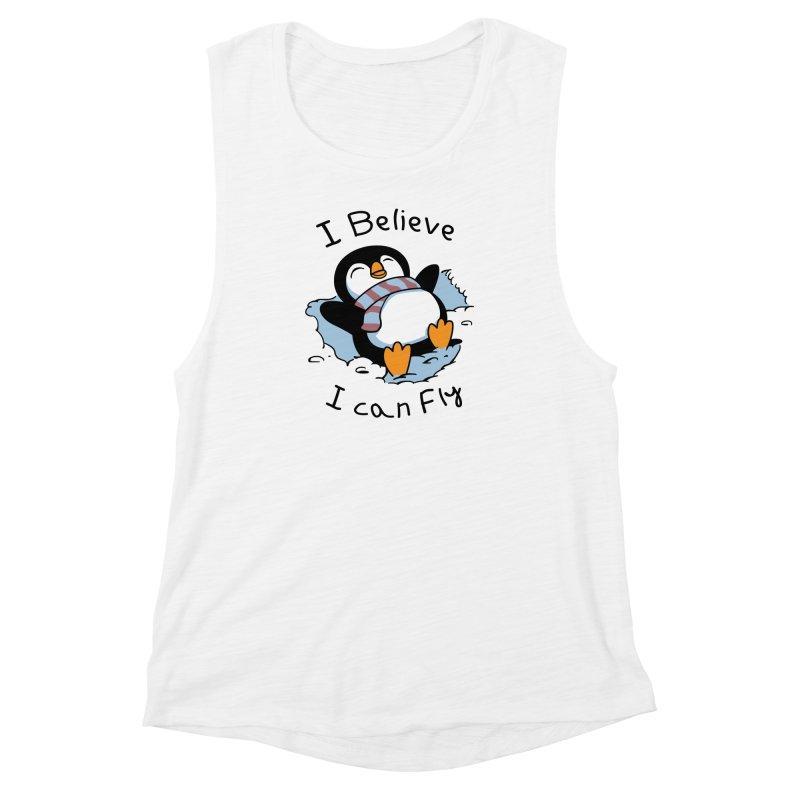 Snow Penguin Women's Muscle Tank by vincenttrinidad's Artist Shop