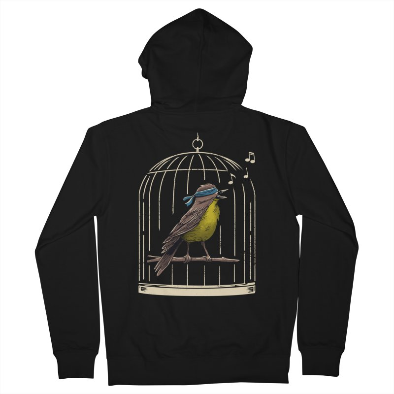 Follow the Birds Men's French Terry Zip-Up Hoody by Vincent Trinidad