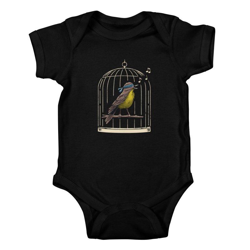 Follow the Birds Kids Baby Bodysuit by vincenttrinidad's Artist Shop